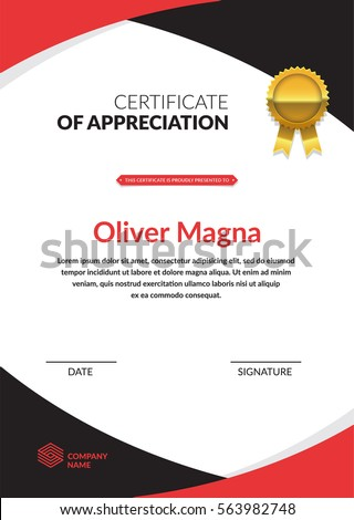 Sport certificate border stock images royalty free images certificate of appreciation template cool geometric design layered eps10 vector yadclub Images