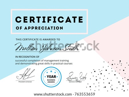 Certificate appreciation template design elegant business certificate of appreciation template design elegant business diploma layout for training graduation or course completion yelopaper