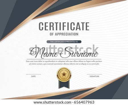 certificate of appreciation template design vector illustration