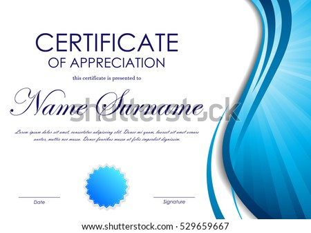 Blue Certificate Border Stock Images Royalty Free Images