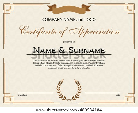 Certificate Of Appreciation Stock Images RoyaltyFree Images