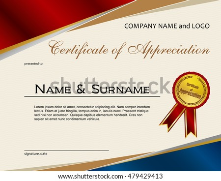 Certificate Of Appreciation Stock Images Royalty Free