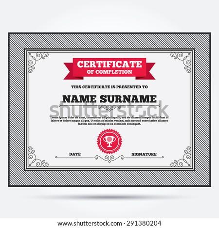 Sports Certificate Images RoyaltyFree Images Vectors – Sports Award Certificates