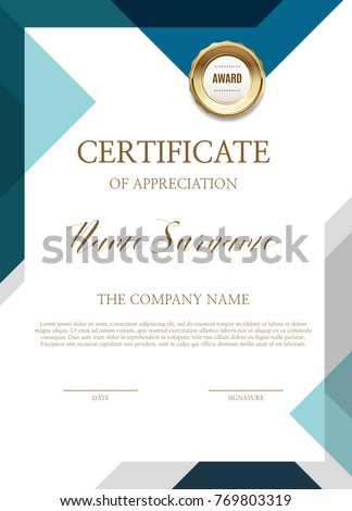 Certificate Simple Background Stock Vector 769803319 ...