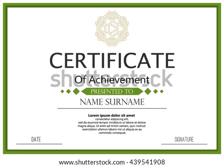 Certificate diploma template achievement success diploma stock certificate or diploma template achievement success diploma certificate graduation ornament elegant coupon decoration border yadclub Choice Image