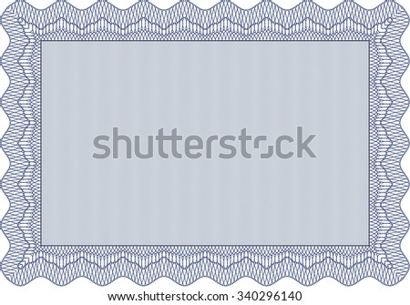 Certificate or diploma template. Easy to print. Vector pattern that is used in money and certificate.Retro design.  - stock vector