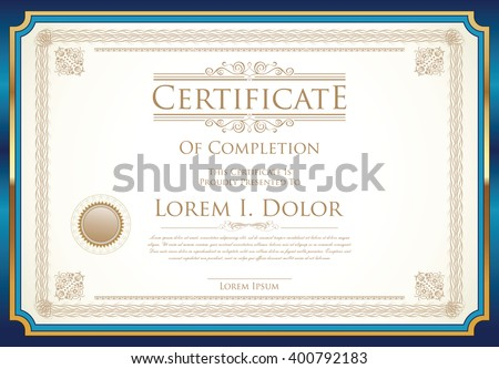 Official Certificate Images RoyaltyFree Images Vectors – Official Certificate Template