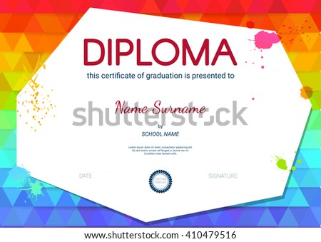 Certificate diploma template vector illustration stock vector certificate or diploma template vector illustration yadclub Choice Image