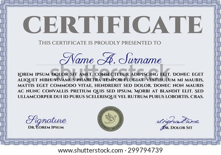 Certificate diploma template vector pattern that stock vector certificate or diploma template vector pattern that is used in money and certificatewith yadclub Choice Image