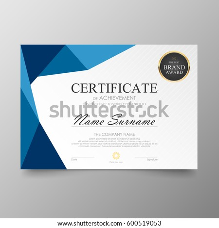 Certificate premium template awards diploma background stock vector certificate premium template awards diploma background vector modern value design and layout luxurious ver leaflet yadclub Choice Image