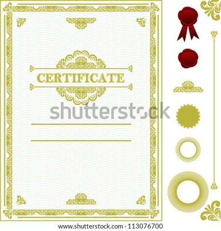 Certificate template. - stock vector