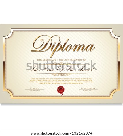 Certificate template - stock vector