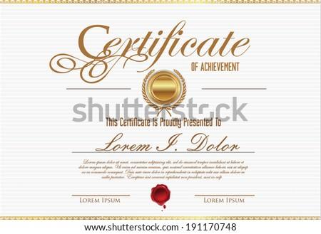 Certificate template - stock vector