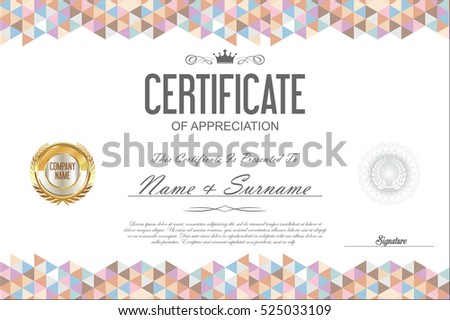 Certificate template abstract geometric design background stock certificate template abstract geometric design background yadclub Choice Image