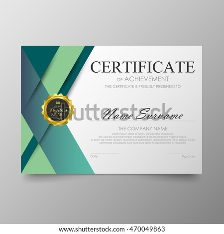 Certificate template awards diploma background vector stock vector certificate template awards diploma background vector modern value design and luxurious elegantlustration layout cover yadclub Choice Image