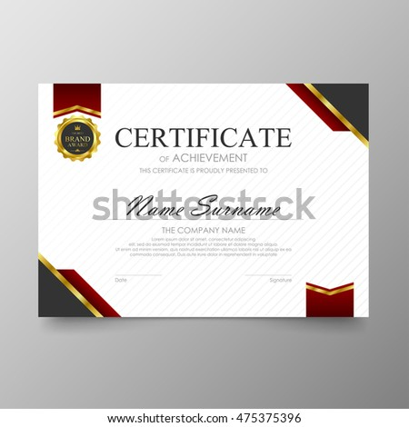 Certificate template awards diploma background vector stock vector certificate template awards diploma background vector modern value design and luxurious elegantlustration layout cover yelopaper Images