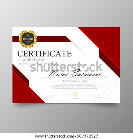 Shutterstockiinnoom certificate template awards diploma background vector modern value design and luxurious elegantlustration layout cover yelopaper Gallery