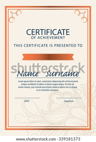 Certificate templatediploma a 4 size vector stock vector hd royalty certificate templatediplomaa4 size vector yelopaper Images