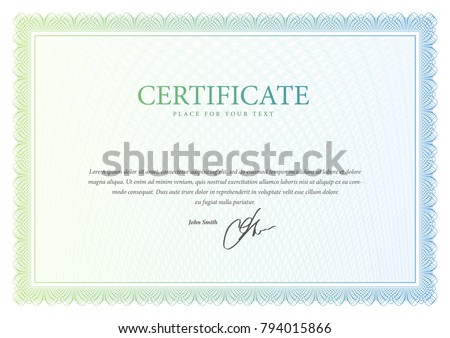certificate template diploma currency border awardのベクター画像素材