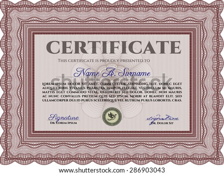 Certificate template diploma completionwith quality background stock certificate template diploma of completionwith quality background complex design yadclub Choice Image