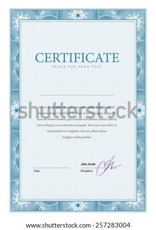 Certificate. Template diplomas, currency. Vector - stock vector