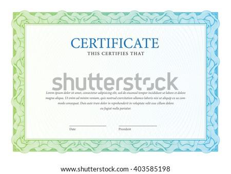 Certificate. Template diplomas. Vector - stock vector