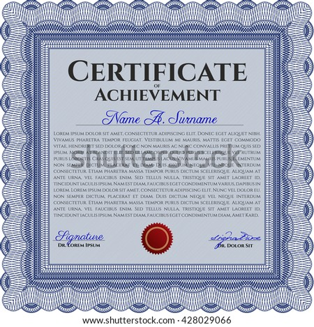 Certificate template eps10 jpg achievement diploma stock vector certificate template eps10 jpg of achievement diploma vector illustration design completion yelopaper Choice Image
