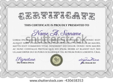 Certificate template eps10 jpg achievement diploma stock vector certificate template eps10 jpg of achievement diploma vector illustration design completion yadclub Image collections
