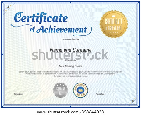 Beinlucks certificate diploma voucher guarantee document set on certificate template in vector for achievement graduation completion yelopaper Choice Image