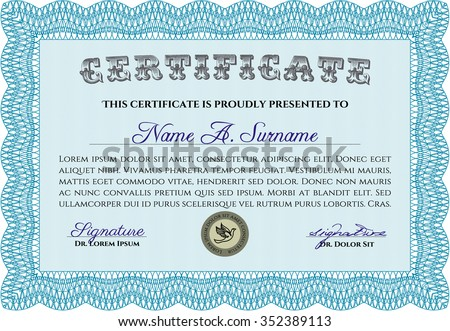 Certificate template diploma template customizable easy stock certificate template or diploma template customizable easy to edit and change colorswith yelopaper Images