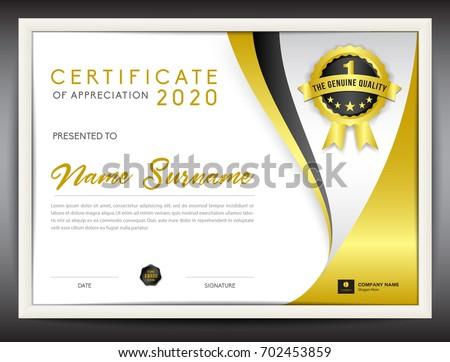 Certificate template vector illustration diploma layout stock photo certificate template vector illustration diploma layout in a4 size gold business flyer design yelopaper Images