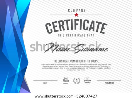 Modern Certificate Stock Images, Royalty-Free Images & Vectors