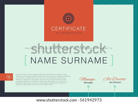 certificate template with clean and modern pattern,diploma,Vector