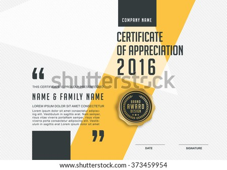 certificate template with clean and modern pattern,Vector illustration  - stock vector