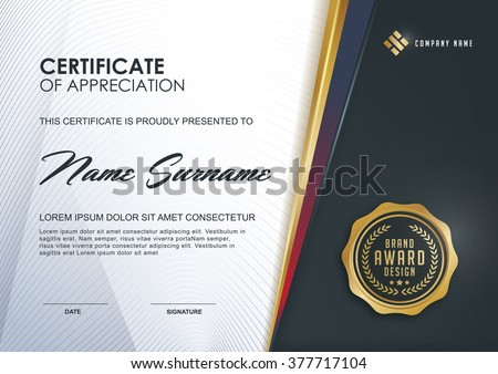 certificate template with Luxury and modern pattern, Qualification certificate blank template with elegant,Vector illustration  - stock vector