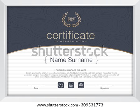 Certificate template modern patterndiplomavector illustration stock certificate template with modern patterndiplomavector illustration yelopaper Gallery
