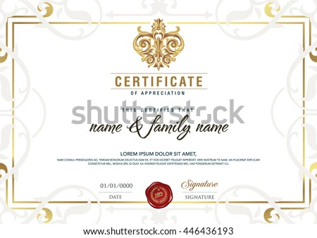 Certificate be elegant stylish certificate awardcertificate certificate to be elegant and stylish with the certificate award certificatecertificates horizontal yelopaper Image collections