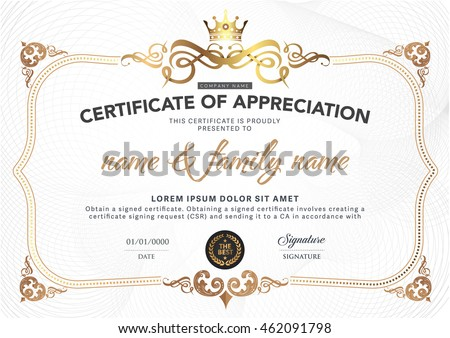Award Certificate Images RoyaltyFree Images Vectors – Award Certificate
