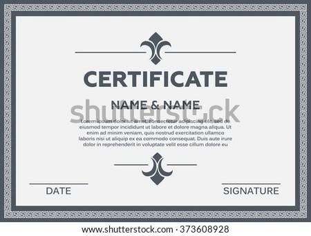Certificate vector illustration - stock vector