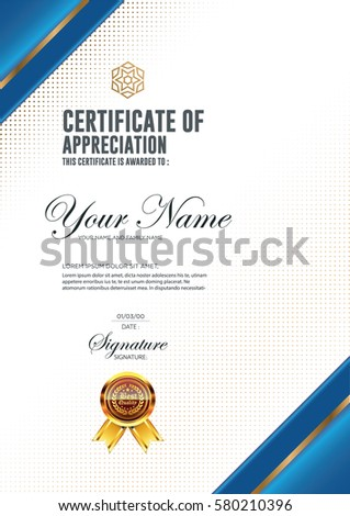 Certificate Vector Luxury Template Stock Vector 2018 580210396