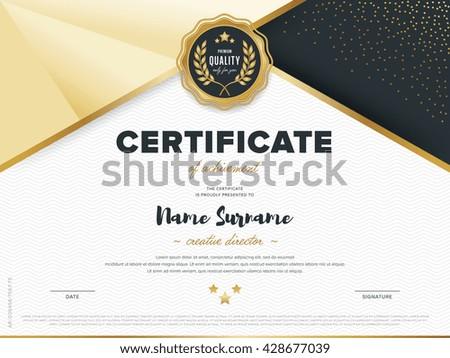 certificate vector template design diploma design stock vector  certificate vector template design diploma design graduation award success