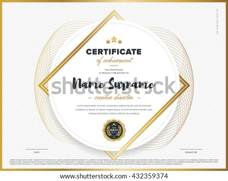 valedictorian award certificate template - certificate stock images royalty free images vectors
