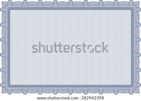 Certificate. With background. Vector pattern that is used in currency and diplomas.Cordial design.  - stock vector