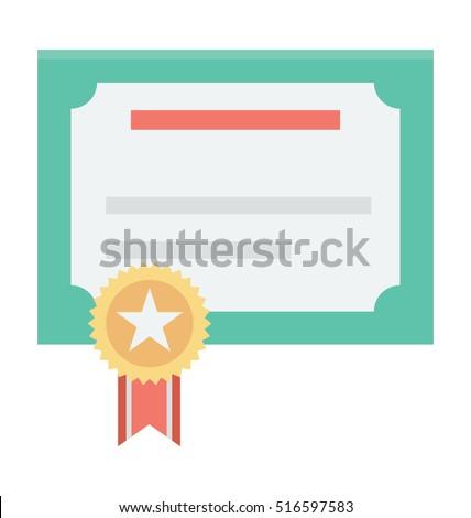 certification vector icon stock vector 516597583 shutterstock rh shutterstock com certificate vector template certificate vector template