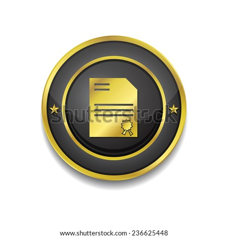 Certified Gold Vector Icon Button