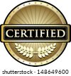 Certified Pure Gold Award - stock vector