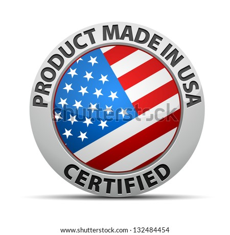 Certified USA Product - stock vector
