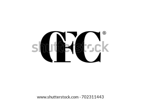 CFC Logo Branding Letter Vector Graphic Design Useful As App Icon Alphabet Combination