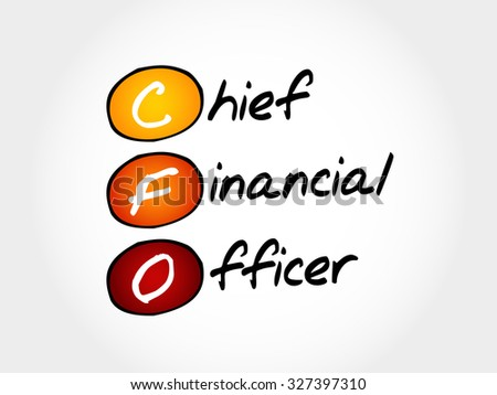 CFO - Chief Financial Officer, acronym business concept