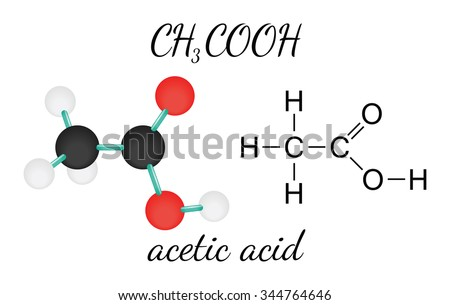 Ch3cooh Acetic Acid 3d Molecule Isolated Stock Photo Photo Vector